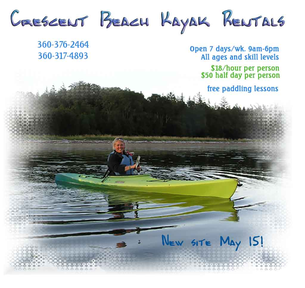 Crescent Beach Kayak Rentals Splash Page